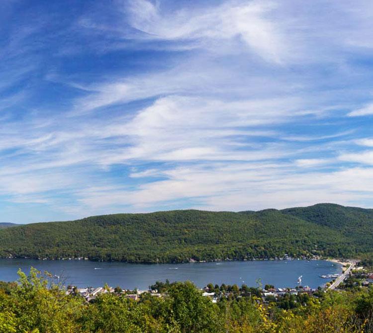 Aerial photo of Lake George
